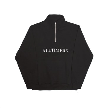 Alltimers Nextel Zip Crewneck - Black