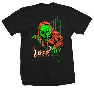 Heroin Skateboards Ghoul T-Shirt - Black