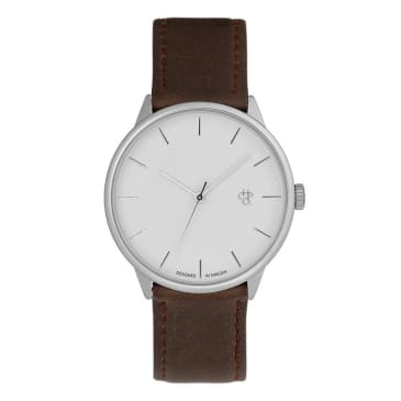CHPO Khorshid Watch - Silver/Brown