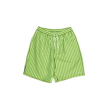 Polar Skate Co Stripe Swim Shorts - Neon Yellow