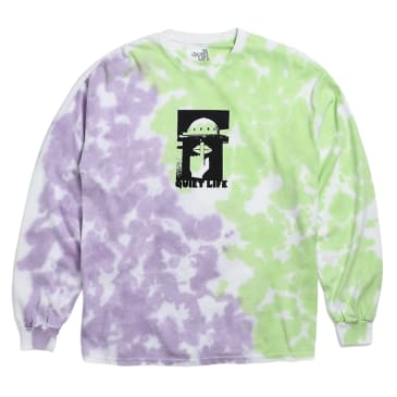 The Quiet Life Integretron Long Sleeve T-Shirt - Tie Dye