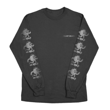 Blast Skates Shine Logo Long Sleeve T-Shirt - Black