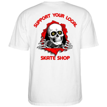 Powell Peralta SYLSS Ripper T-Shirt - White