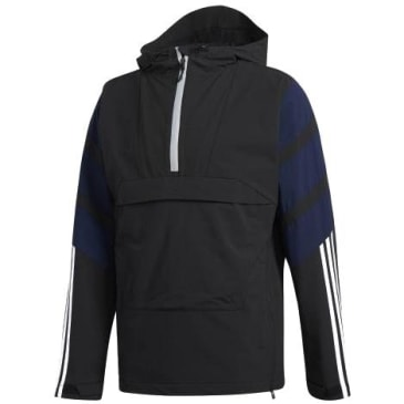 adidas 3 Stripe Jacket - Black / White / Navy