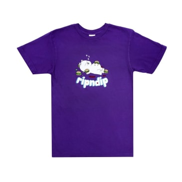 Rip N Dip Fat Hungry Baby T-Shirt - Purple