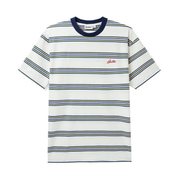 Butter Goods Market Stripe T-Shirt - White / Yellow