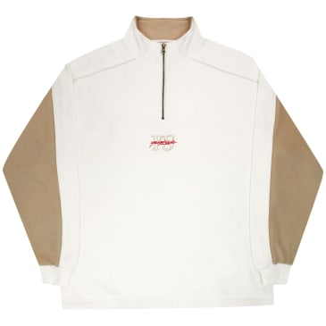 Yardsale Pipeline Quarterzip - Cream / Brown