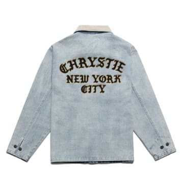 Chrystie NYC - Chain stitch embroidery logo denim jacket