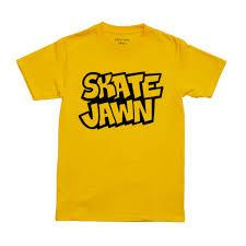 Skate Jawn Straight Letter Tee - Yellow