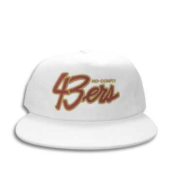 No-Comply 43ers Snap Back Hat White
