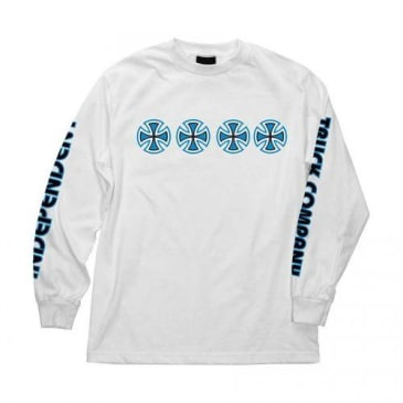 Independent Stacked Color Long Sleeve (White)