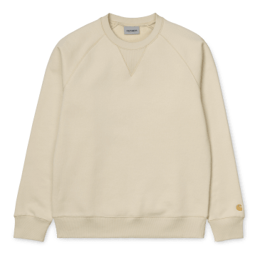 Carhartt WIP Chase Sweat - Flour/Gold