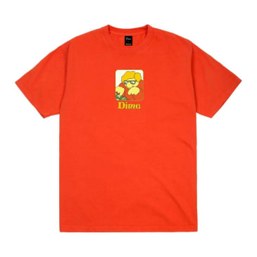 Dime Typo T-Shirt Bright Orange