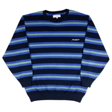 Yardsale Vermont Knit Long Sleeve - Indigo / Mint