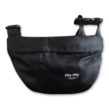 Fifty Fifty Hip Bag Black Micro Ripstock