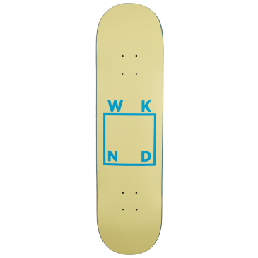WKND - Cream/Baby Blue Logo Skateboard Deck - 8.1"