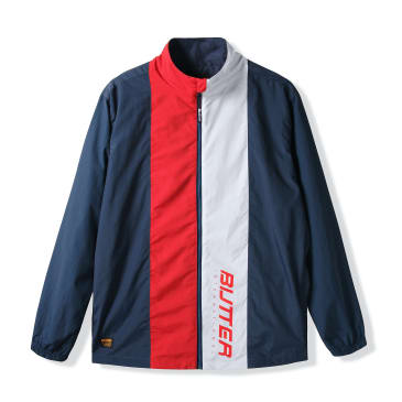 Butter Goods Runner Tracksuit Jacket, Navy/Red