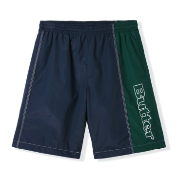 Butter Goods Quarter Nylon Shorts - Navy / Forest