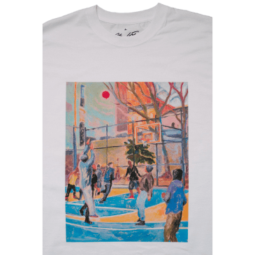 Free Skate Magazine Lotti B-Ball T-Shirt - White