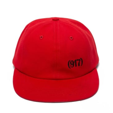 Call Me 917 Area Code Hat - Red