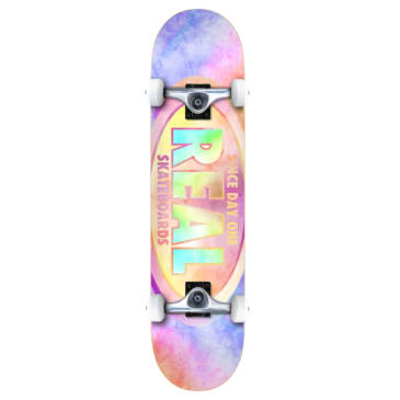 Real Skateboards Team Oval Tie Dyes Complete 7.75 (Beginner)