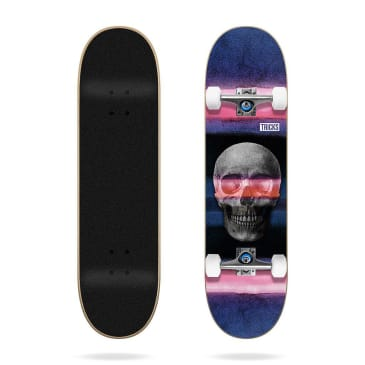 Tricks Skateboards Skull Complete Skateboard 7.75""