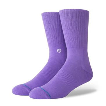 Stance Uncommon Solids Icon Socks - Violet