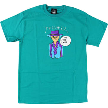 Thrasher - Gonzales Cash SS Jade Green Large