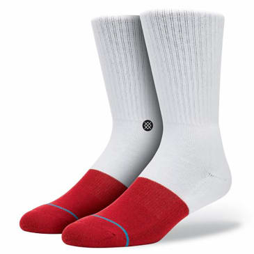 Stance Uncommon Solids Transition Socks - White - Red