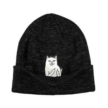 Rip N Dip Lord Nermal Beanie - Black Reflective