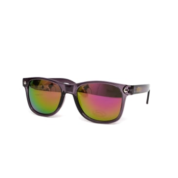 Glassy Eyewear Leonard Sunglasses - Dark Grey/Purple Mirror