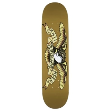 Anti Hero Classic Eagle Skateboard Deck Brown - 8.06""