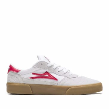 Lakai Cambridge Suede Skate Shoes - White / Red