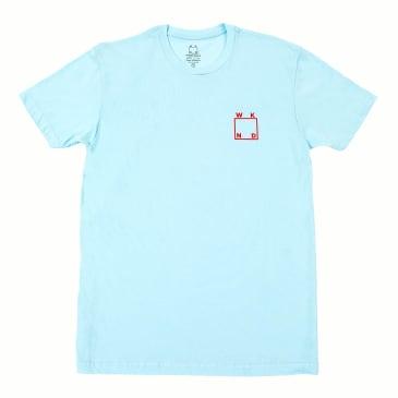 WKND Logo T-Shirt - Light Blue- Red