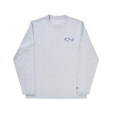 Polar Skate Co. Halberg Long Sleeve T-Shirt - Heather Grey