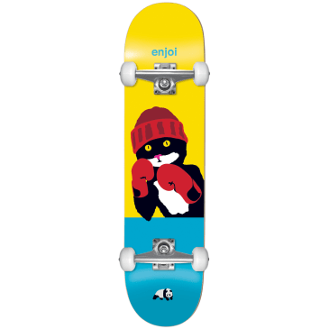 "Enjoi - 8.25"" Catty Pacqmeow Complete Skateboard (Yellow / Blue)"