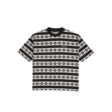 Polar Skate Co Square Stripe Surf T-Shirt - Black / White
