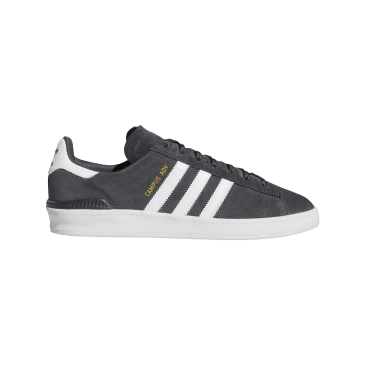 Adidas Campus ADV Skateboarding Shoes - Grey Six/Cloud White/Gold Metallic