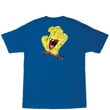 Santa Cruz Spongebob Hand T-Shirt - Royal Blue