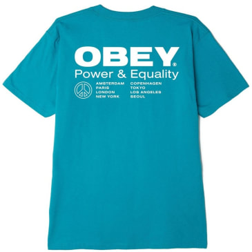 OBEY Power & Equality T-Shirt - Teal