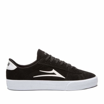 Lakai Newport Suede Skate Shoes - Black / White
