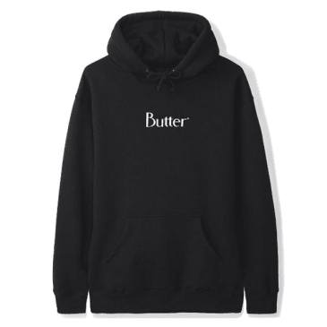 Butter Classic Logo Pullover Hoody Black