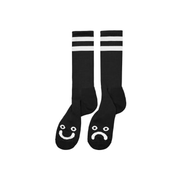 Polar Skate Co Happy Sad Socks Long - Black