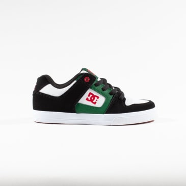DC Pure Youth Skate Shoes - Grey / Green