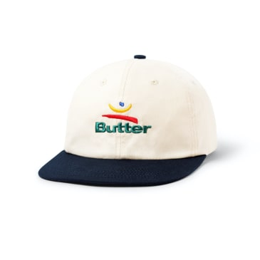 "BUTTER GOODS- ""92 SIX PANEL CAP"" (NATURANL/NAVY)"