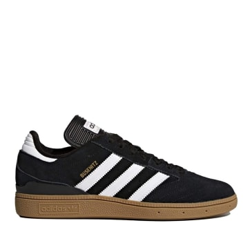 adidas Skateboarding Busenitz Pro Shoes - Core Black / Cloud White / Gold Metallic