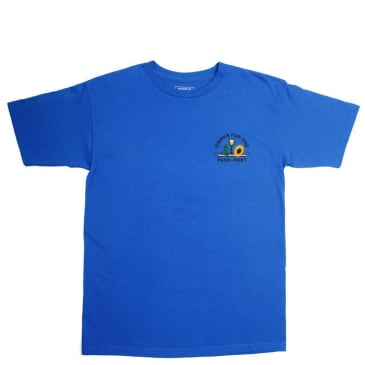 Pass~Port Dinner For One Embroidered T-Shirt - Blue