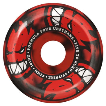 Spitfire Formula Four Conical Full Afterburner 54mm 101A Wheels (Red/Black)