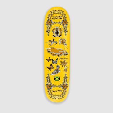 Passport Skateboards - Pass~Port JamaicaTea Towels Skateboard Deck Yellow | 8.5""