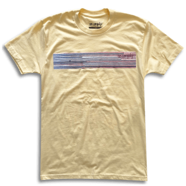 No Comply Veneer T-Shirt - Banana Cream